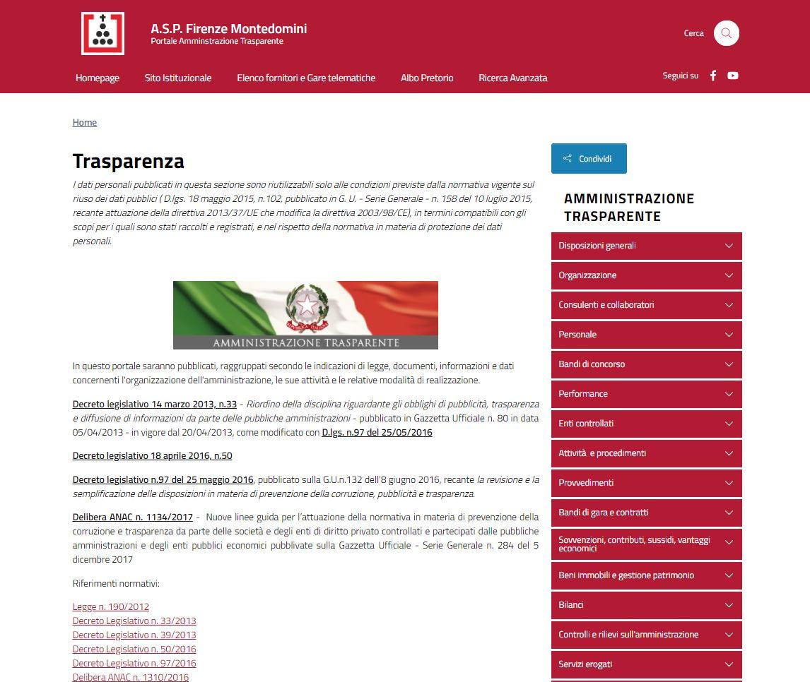 nuovo portale trasparenza montedomini.JPG